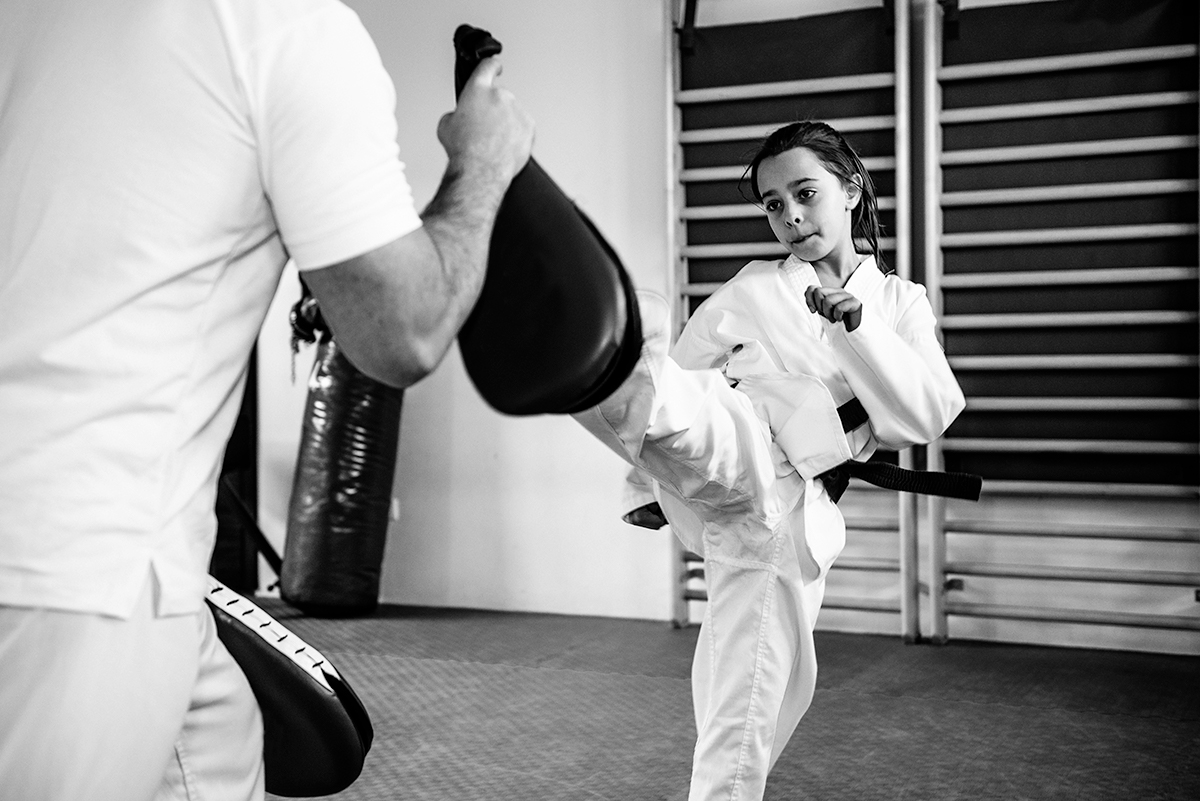 kids taekwondo training