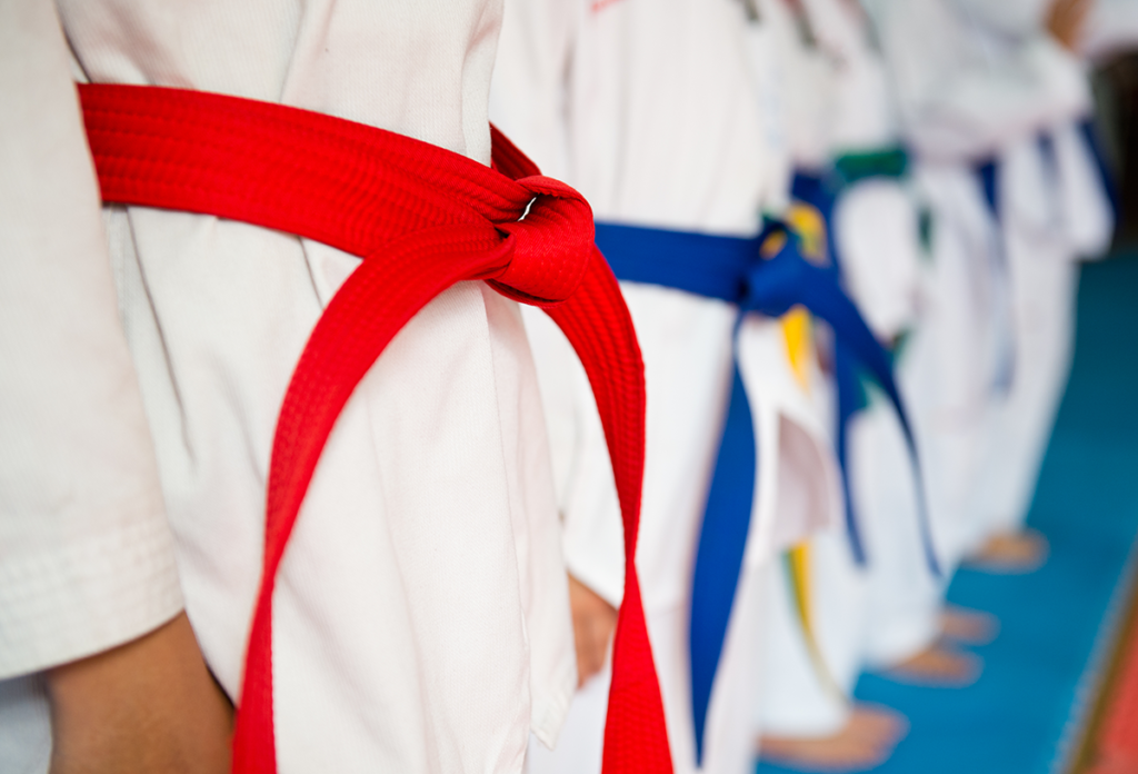 Taekwondo training uniforms
